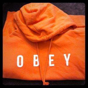 OBEY orange Hoodie Sweatshirt